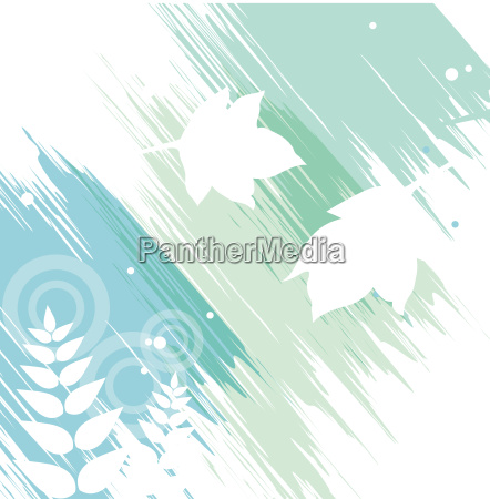 white, leaves, in, watercolor, background - 3236463