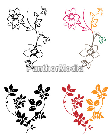 flower, plant, leaves, silhouette, pattern, foliage - 3241899