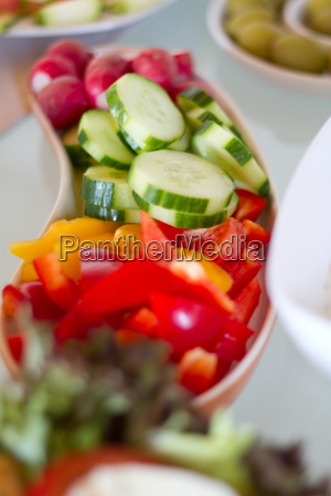 cucumber and peppers