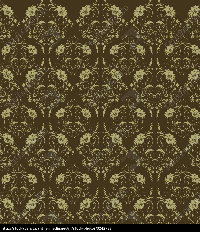 flower, damask, seamless, pattern - 3242783
