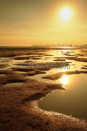 sunset, at, beach - 3243637