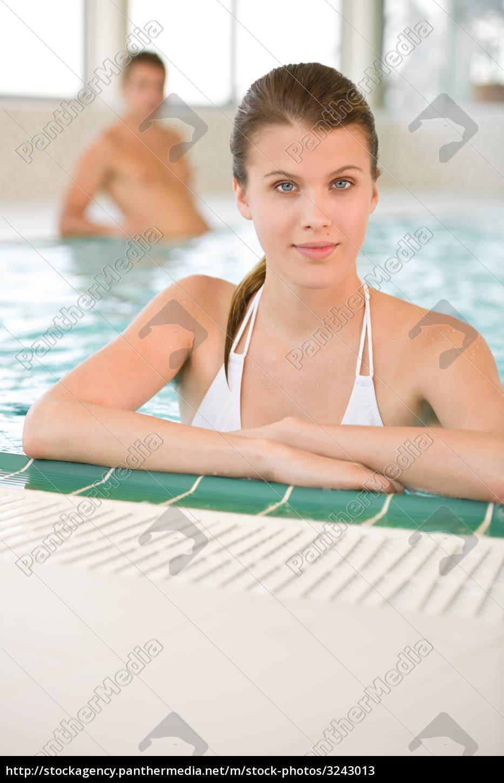 young, woman, in, bikini, relax, in - 3243013