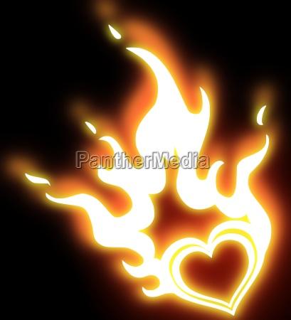 burning, heart - 3244723