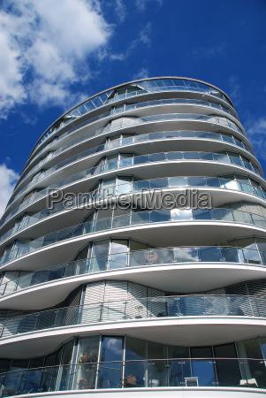 skyscraper with glass facade
