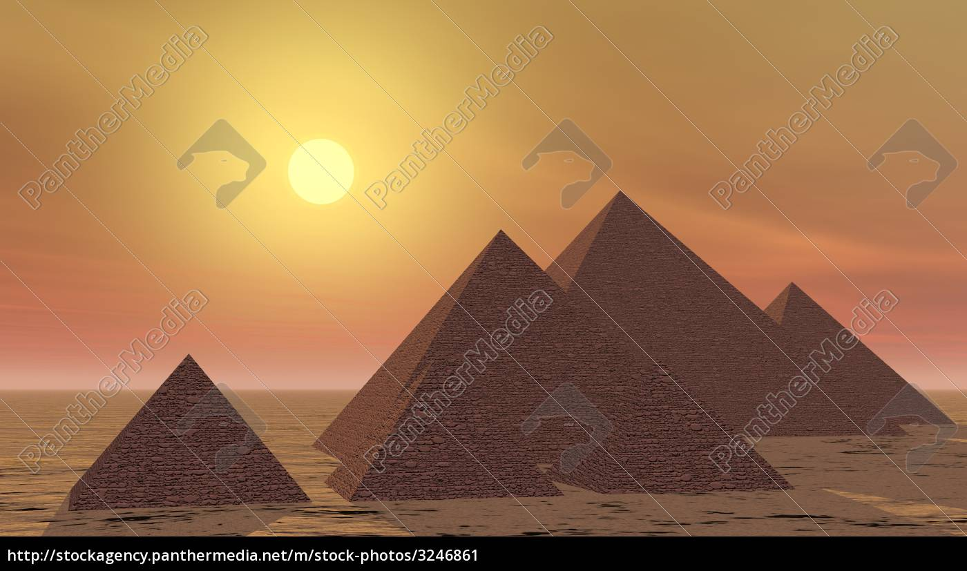 mysterious, pyramids, by, sunset - 3246861