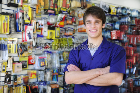 friendly seller in hardware store