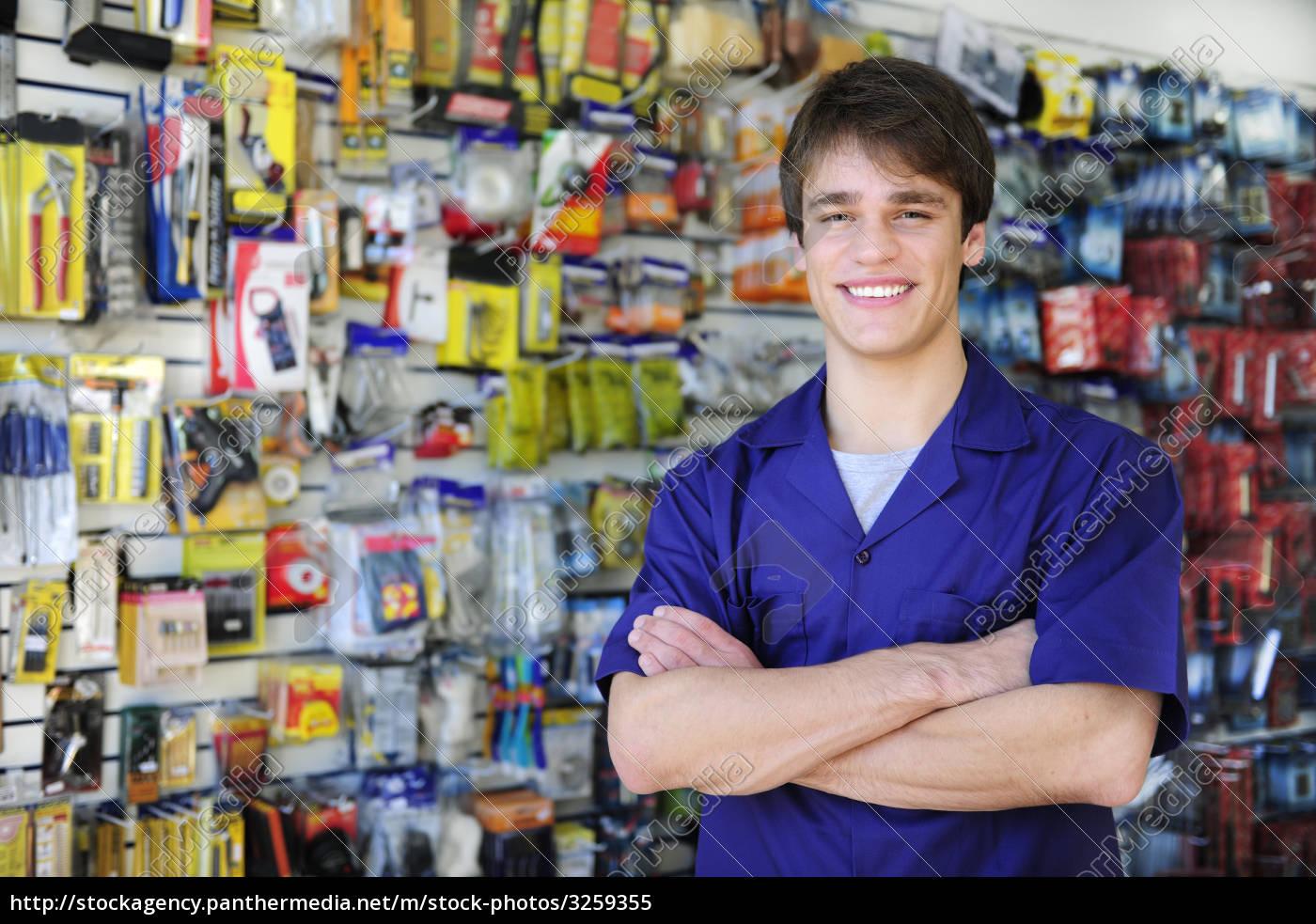 friendly, seller, in, hardware, store - 3259355
