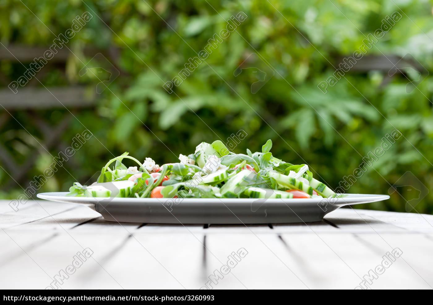 delicious, fresh, salad, outside - 3260993