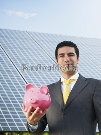businessman, and, solar, panels - 3262681
