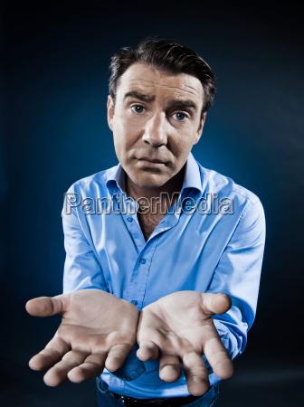 man, portrait, begging, despair - 3274041