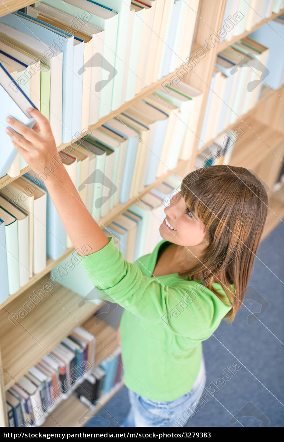student, in, library, -, happy, woman - 3279383