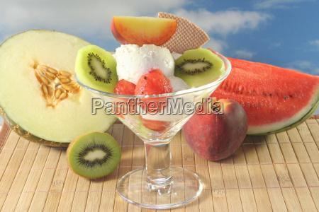 fruit peach ice cream ice cream