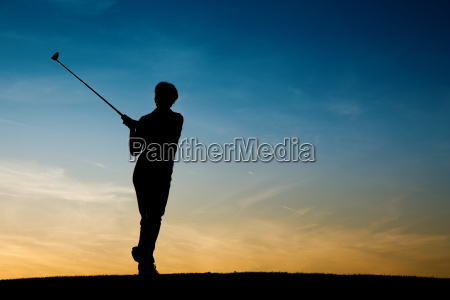 senior, golfer, silhouetted - 3285485