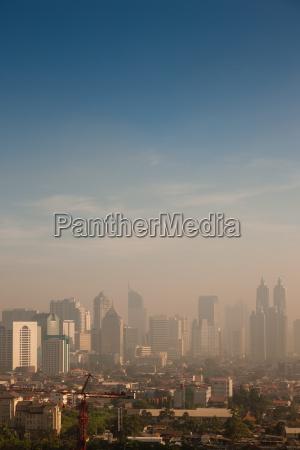 smog over a big city