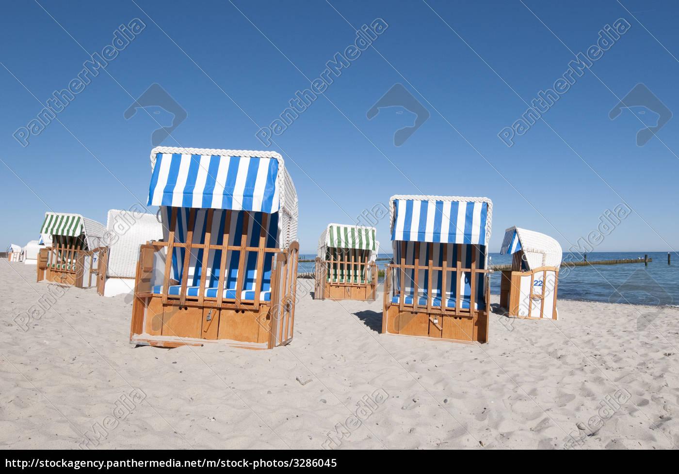 baltic, sea, beach, with, beach, chairs - 3286045