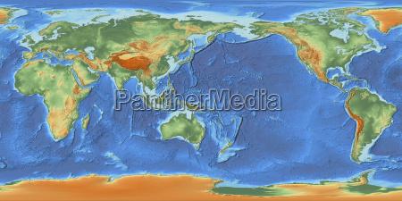 world map centered on 150