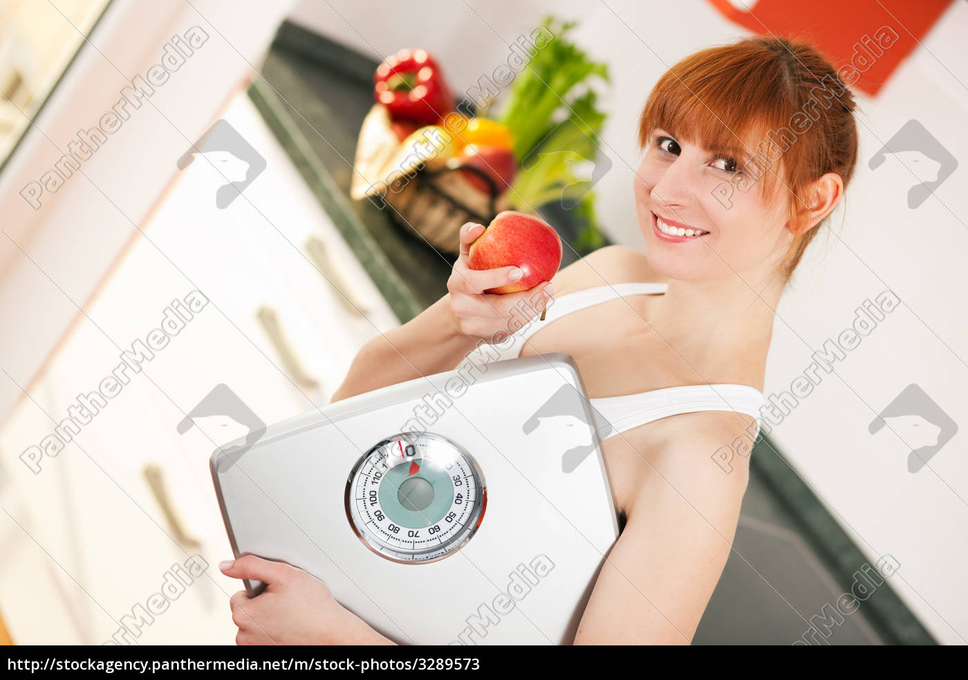 diet, -, woman, with, scale, and - 3289573