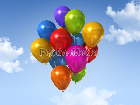 colored, balloons, on, a, blue, sky - 3291599