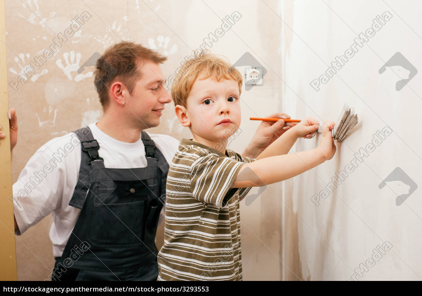 father, malert, wall, with, sons - 3293553