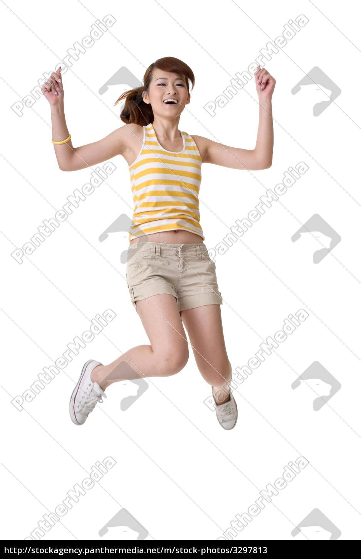 happy, girl, jump - 3297813