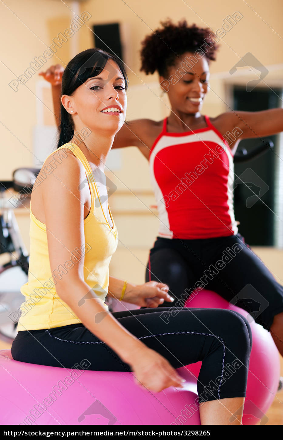 two, women, with, gym, ball, in - 3298265