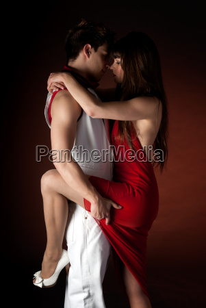 young couple dancing embrace passion romance