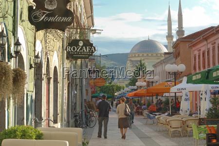 pedestrian street in shkoder