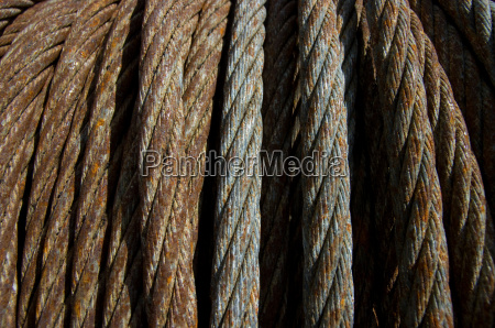 rusty steel cable