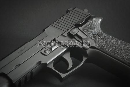 black automatic firearm