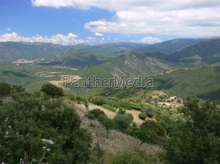 landscape in sardinia