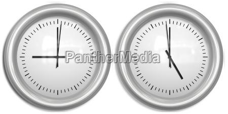 nine to five two clocks