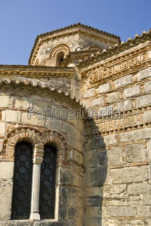 detail of byzantine church at corfu