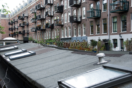 balcony exteriors and rooftops in amsterdam