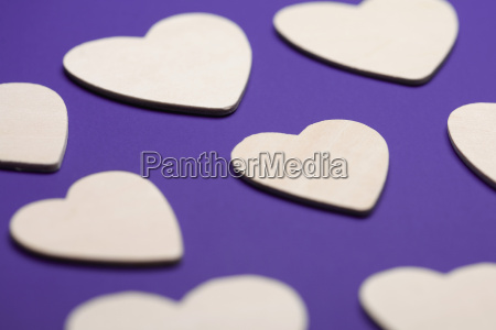 close up of heart shapes on