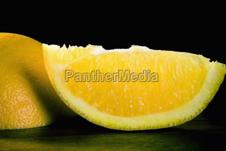 two slices of lemon
