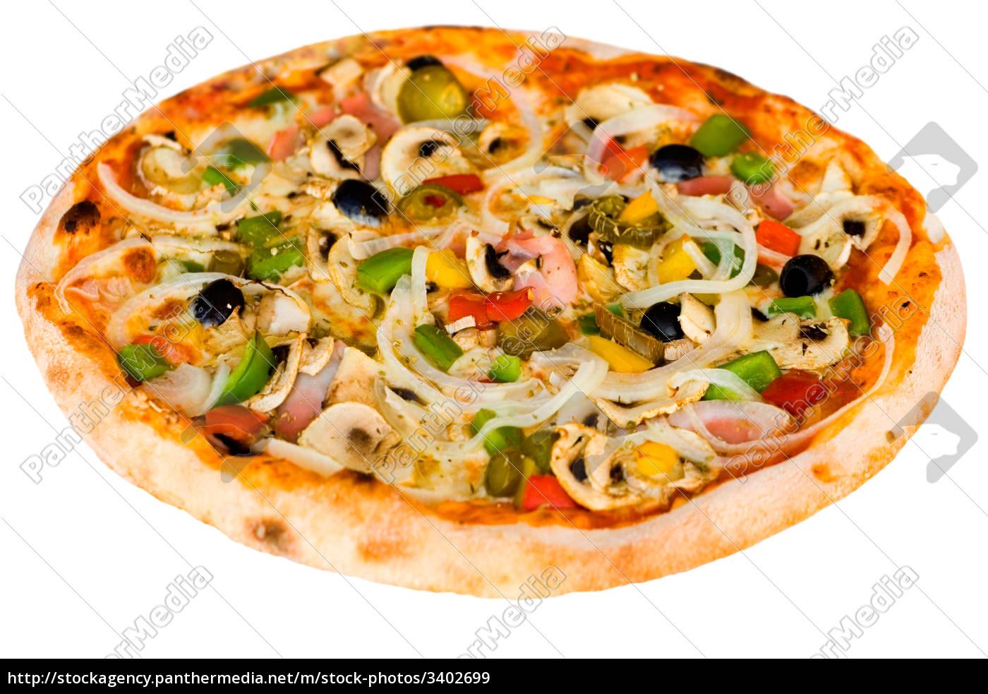 pizza, with, mushrooms, ham, olives - 3402699