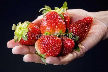 close up of strawberries in a
