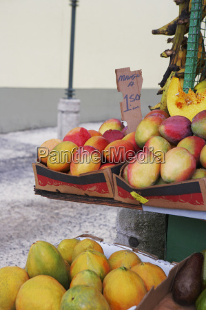 close up of fruits at a