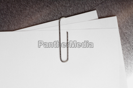 close up of a paper clip