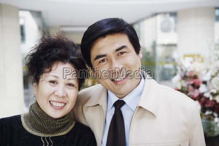 portrait of a mature couple smiling