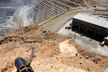birds eye view of kennecott copper