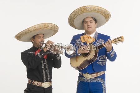 portrait of mariachi duo