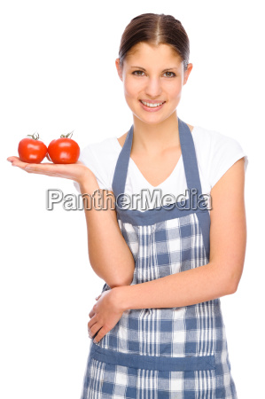 woman with cooking apron