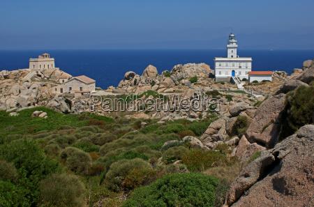 lighthouses on capo testa
