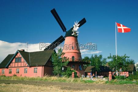 restaurant near a windmill funen county