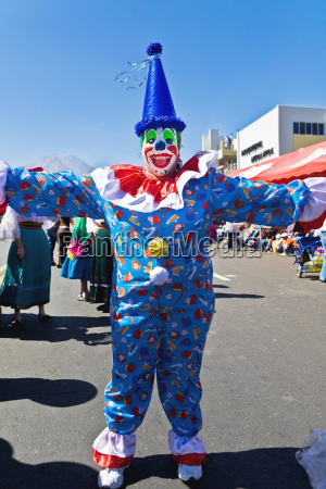 clown dancing in the street arequipa