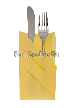 fork and knife with clipping path