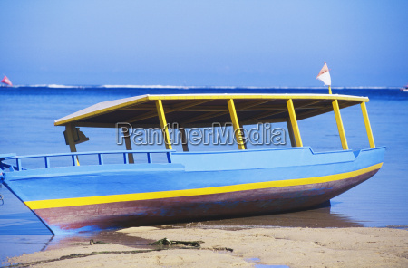 boat at the coat bali indonesia
