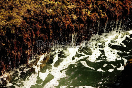 high angle view of water flowing
