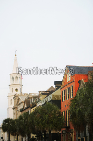 low angle view of buildings and